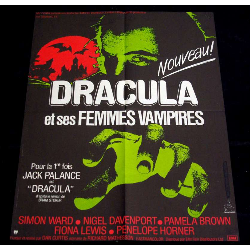 DRACULA French Movie Poster '73 23x33 Jack Palance