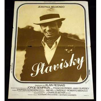 STAVISKY French Movie Poster 15x21 '74 Jean-Paul Belmondo
