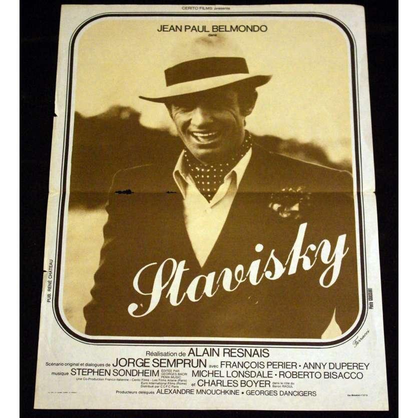 STAVISKY French Movie Poster 15x21 '74 Jean-Paul Belmondo