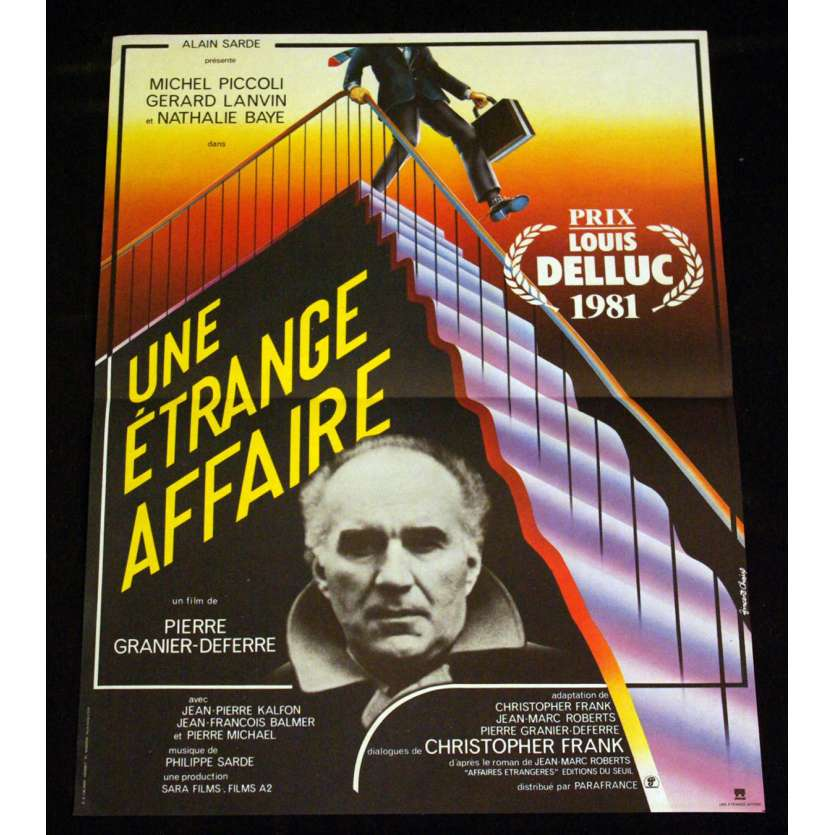 ETRANGE AFFAIRE French Movie Poster 15x21 '81 Piccoli, Lanvin, Baye