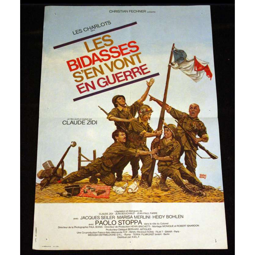 BIDASSES S'EN VONT EN GUERRE French Movie Poster 15x21 '74 Charlots
