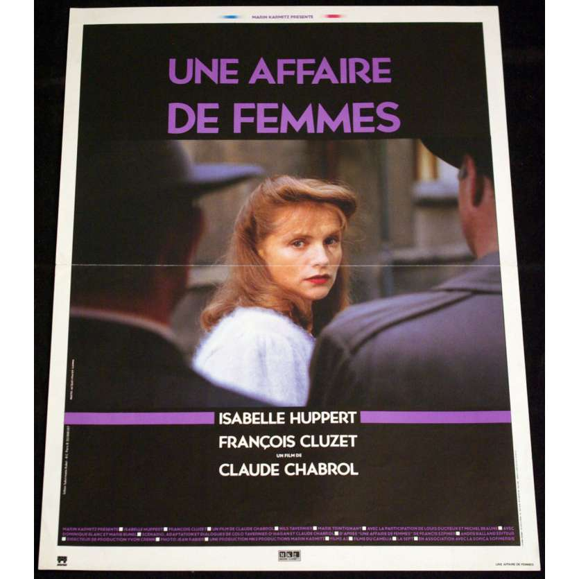 UNE AFFAIRE DE FEMMES French Movie Poster 15x21 '88 Isabelle Huppert, Claude Chabrol