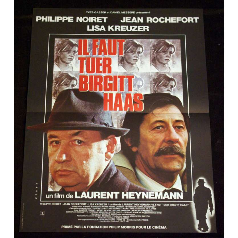 IL FAUT TUER BIRGITT HAAS French Movie Poster 15x21 '81 Noiret, Rochefort