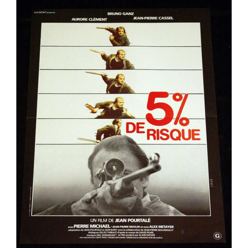 5 POUR CENT DE RISQUE French Movie Poster 15x21 '80 Bruno Ganz