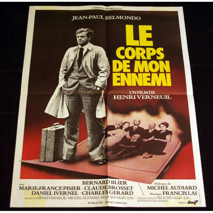 BOFY OF MY ENEMY French Movie Poster 23x31 '76 Jean-Paul Belmondo, Verneuil