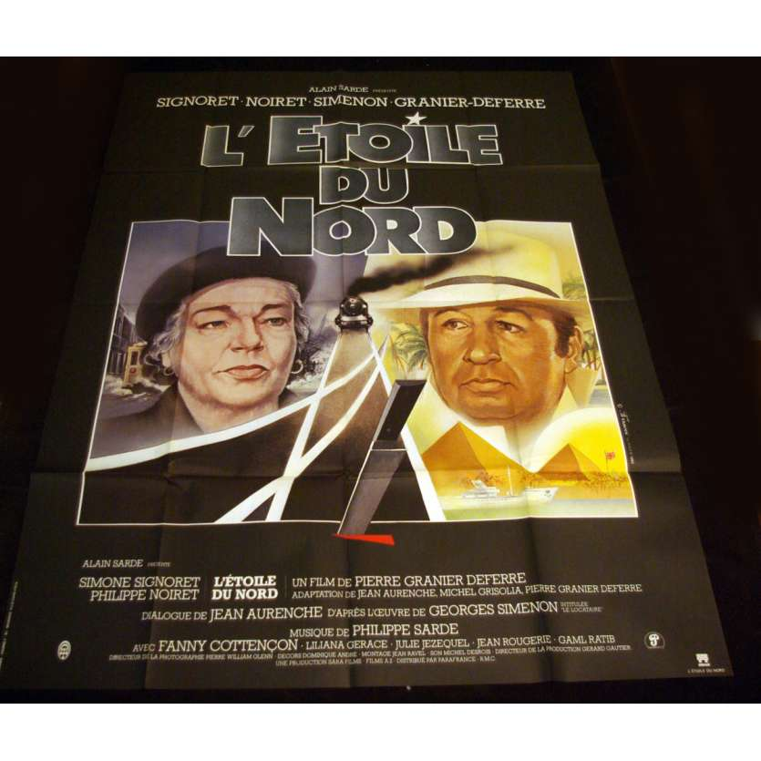 ETOILE DU NORD French Movie Poster 47x63 '82 Signoret, Noiret, Simenon