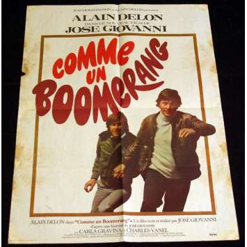 COMME UN BOOMERANG French Movie Poster 15x21 '76 Alain Delon