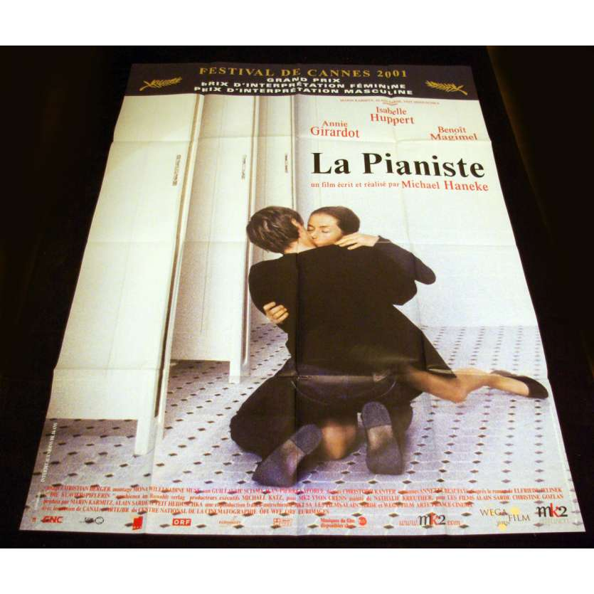 PIANISTE French Movie Poster 47x63 '00 Michael Haneke, Isabelle Huppert