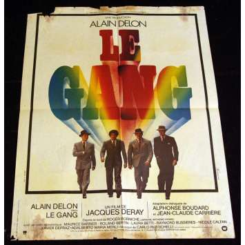 GANG French Movie Poster 23x31 '77 Alain Delon
