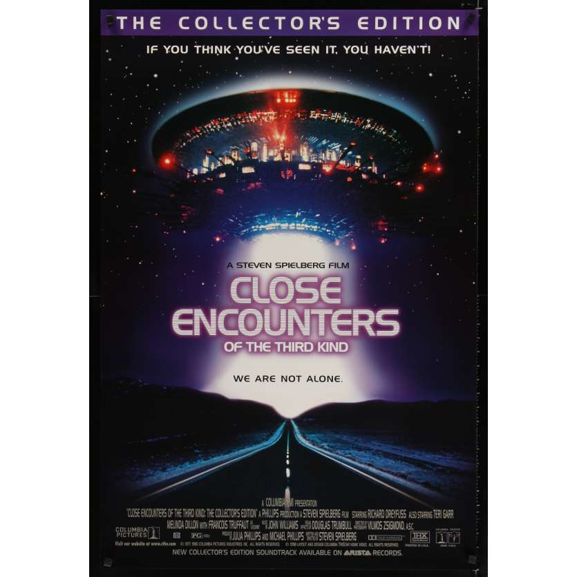 CLOSE ENCOUNTERS OF THE THIRD KIND video 1sh R98 Steven Spielberg sci-fi classic!