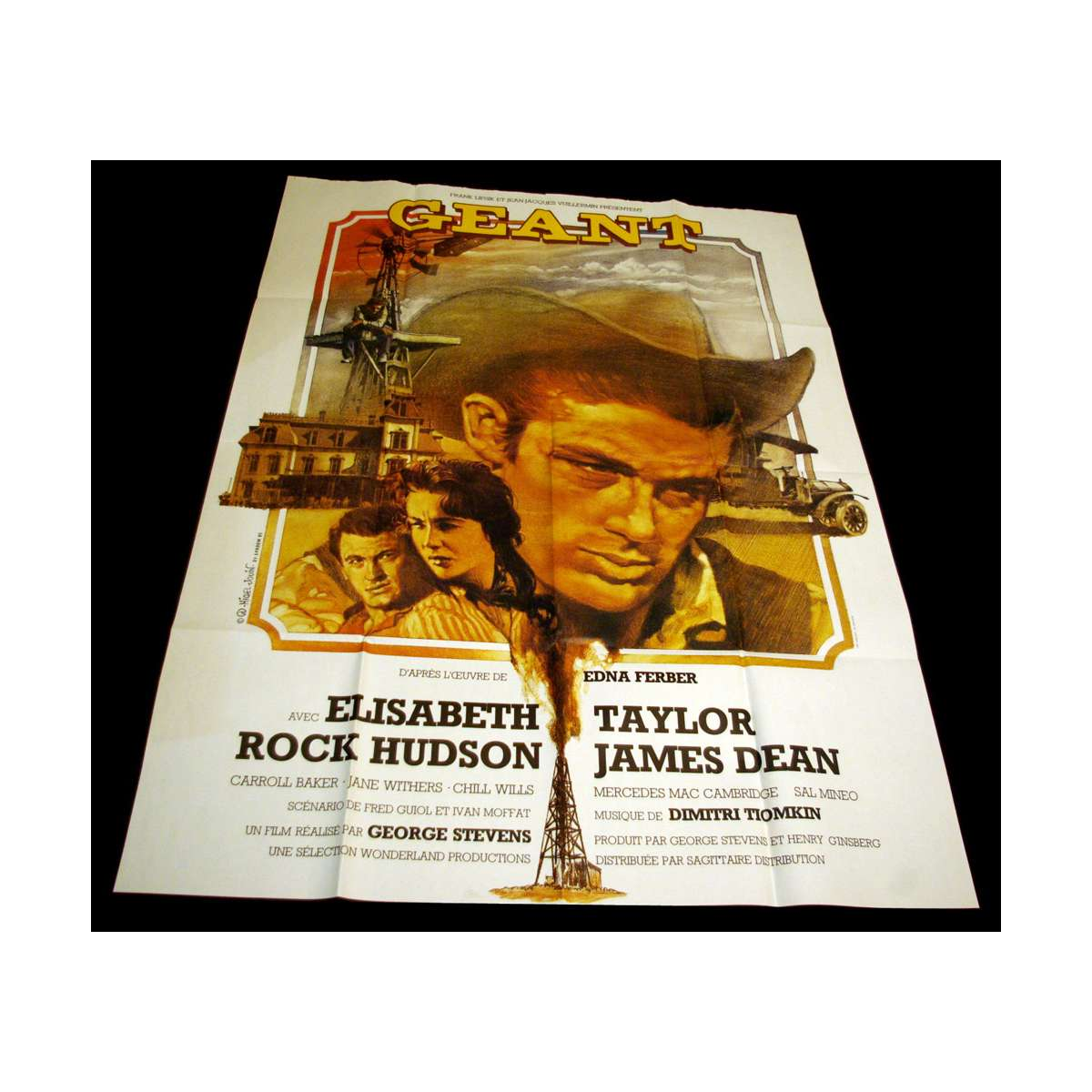 geant french movie poster 47x63 r70 james dean movie poster. Black Bedroom Furniture Sets. Home Design Ideas