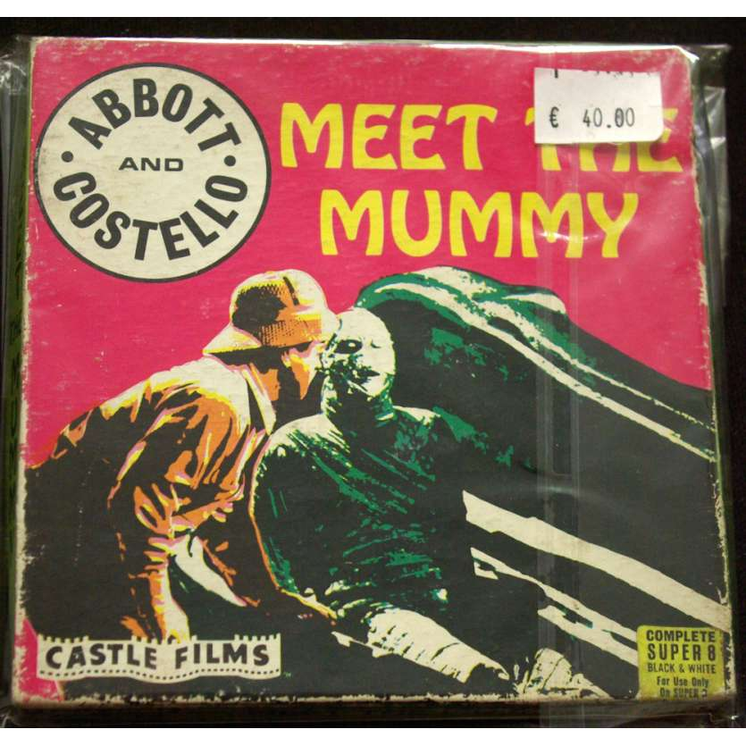 MEET THE MUMMY Vintage Super 8 mm Film US '60s Abbot Costello