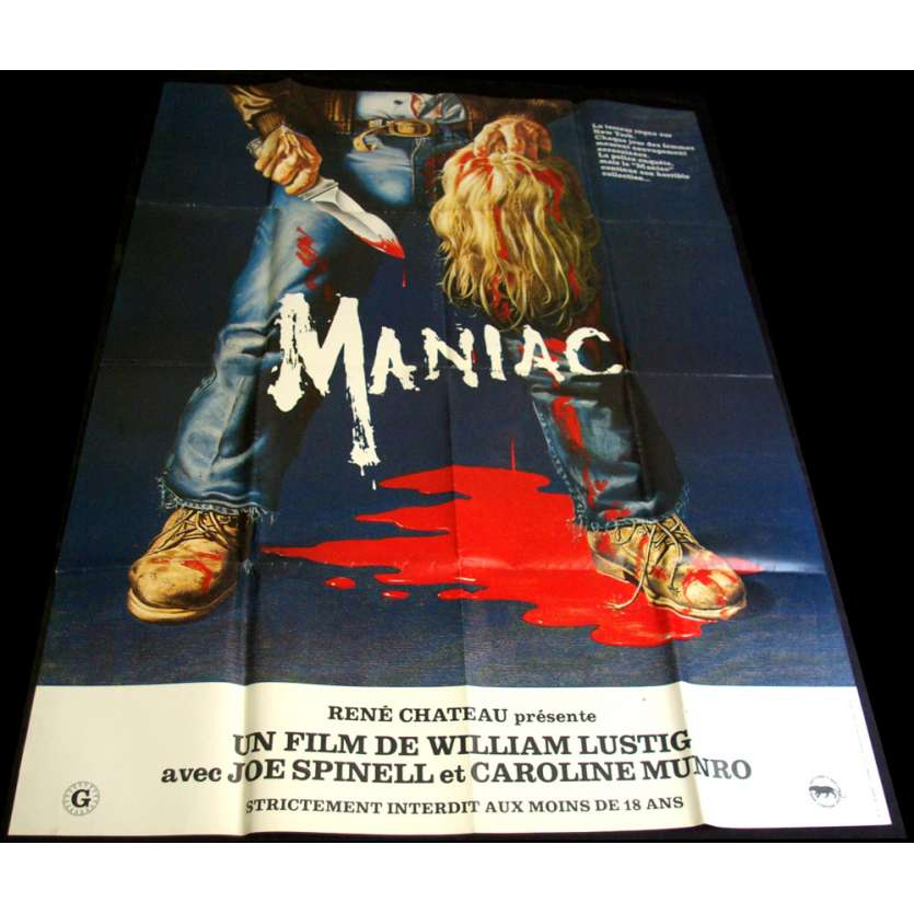 MANIAC Affiche 120x160 FR '80 Joe Spinell, William Lustig