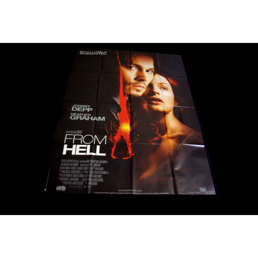 FROM HELL Movie Poster 47x63 '01 Johnny Depp, Heather Graham