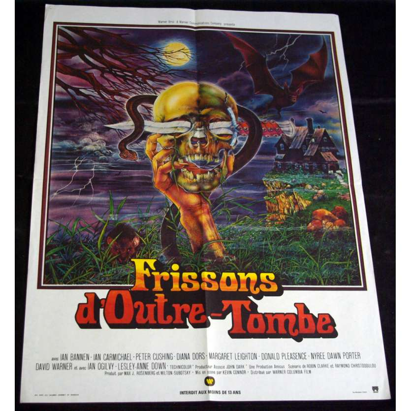 FRISSONS D'OUTRE TOMBE Affiche 60x80 FR '73 Peter Cushing
