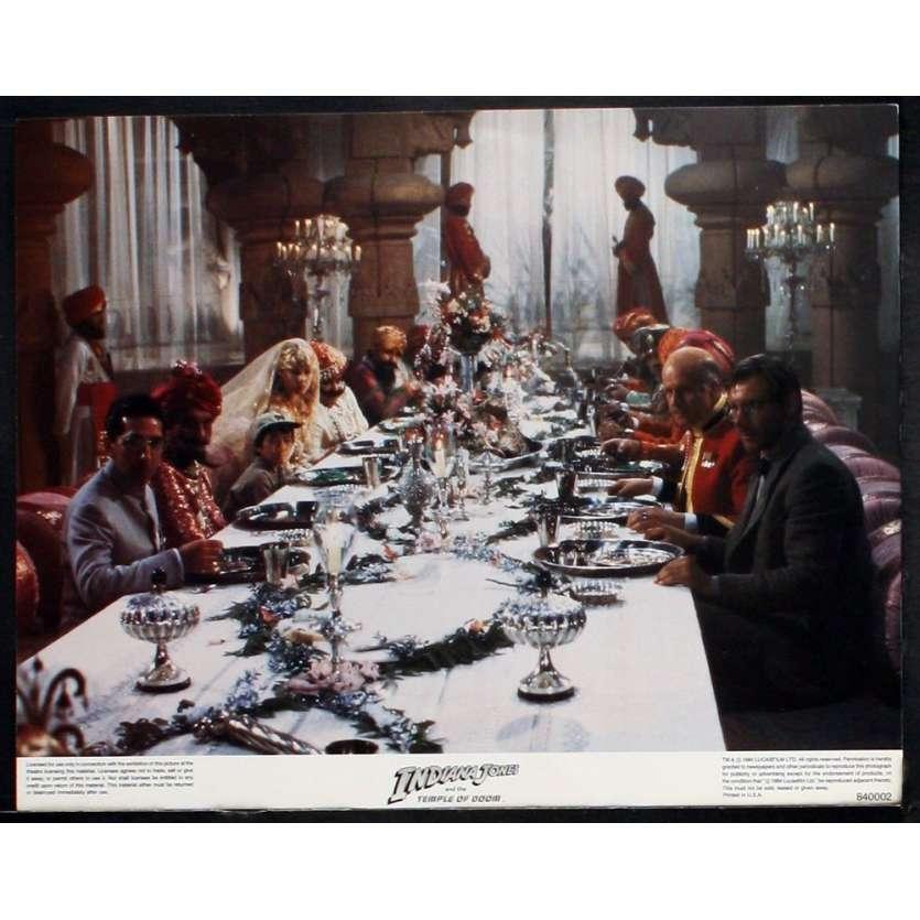 INDIANA JONES & THE TEMPLE OF DOOM Lobby Card '84 Harrison Ford, Spielberg