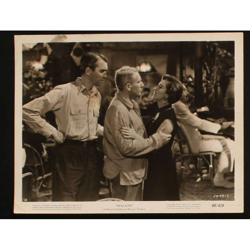 MALAYA Photo presse 20x25 US '49 James Stewart, Spencer Tracy