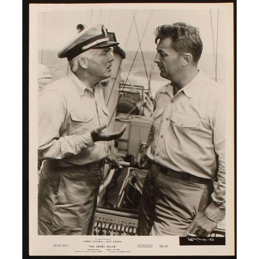 TORPILLES SOUS L'ATLANTIQUE Photo Presse 20x25 US '58 Robert Mitchum, Curd Jurgens