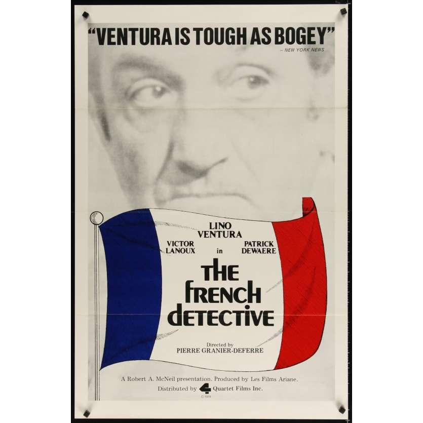 FRENCH DETECTIVE 1sh '79 Pierre Granier-Deferre's Audieu, poulet, Lino Ventura!