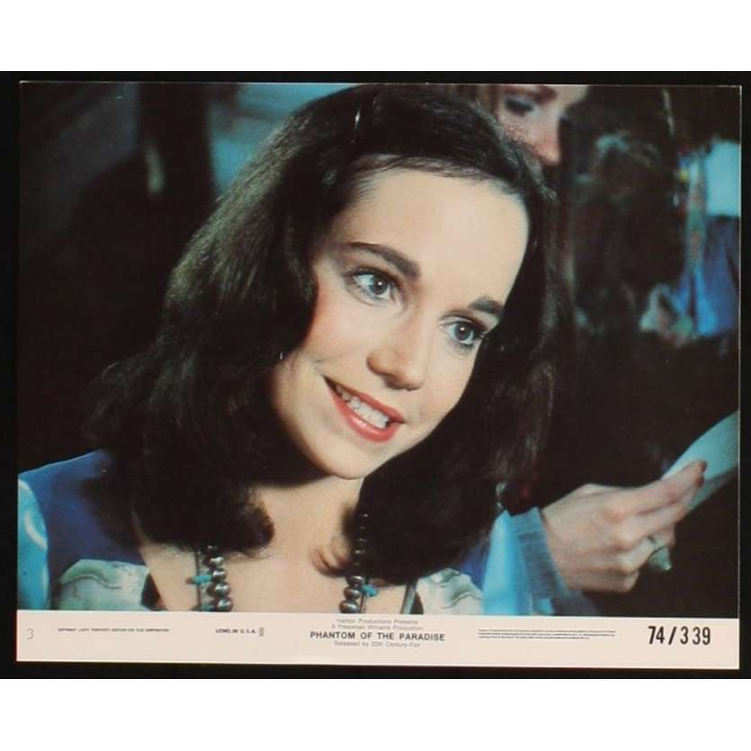 PHANTOM OF THE PARADISE photo de presse N5 '74 De Palma, Jessica Harper lobby card