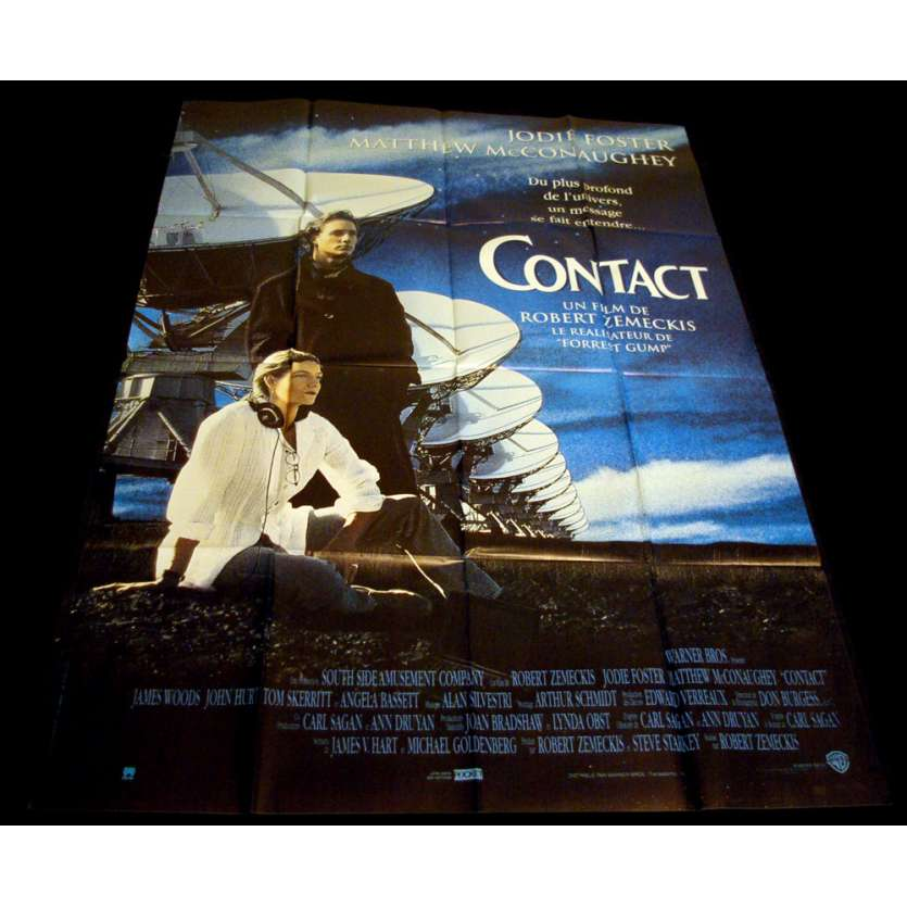 CONTACT French Movie Poster 47x63 '97 Jodie Foster, Robert Zemeckis