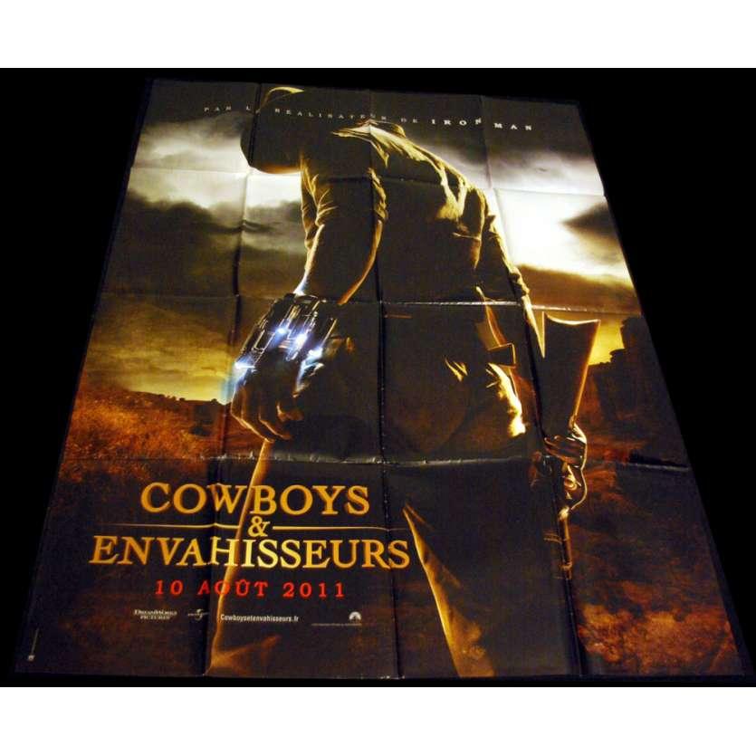 COWBOYS ET ENVAHISSEURS Affiche 120x160 FR '11 Daniel Craig, Harrison Ford 2