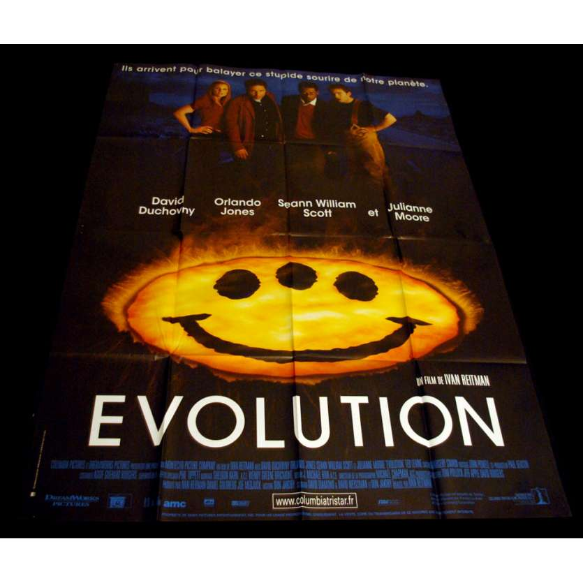 EVOLUTION Affiche 120x160 FR '01 David Duchovny, Julianne Moore