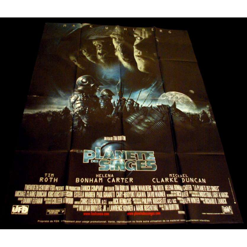 PLANET OF THE APES French Movie Poster 47x63 '01 Tim Burton