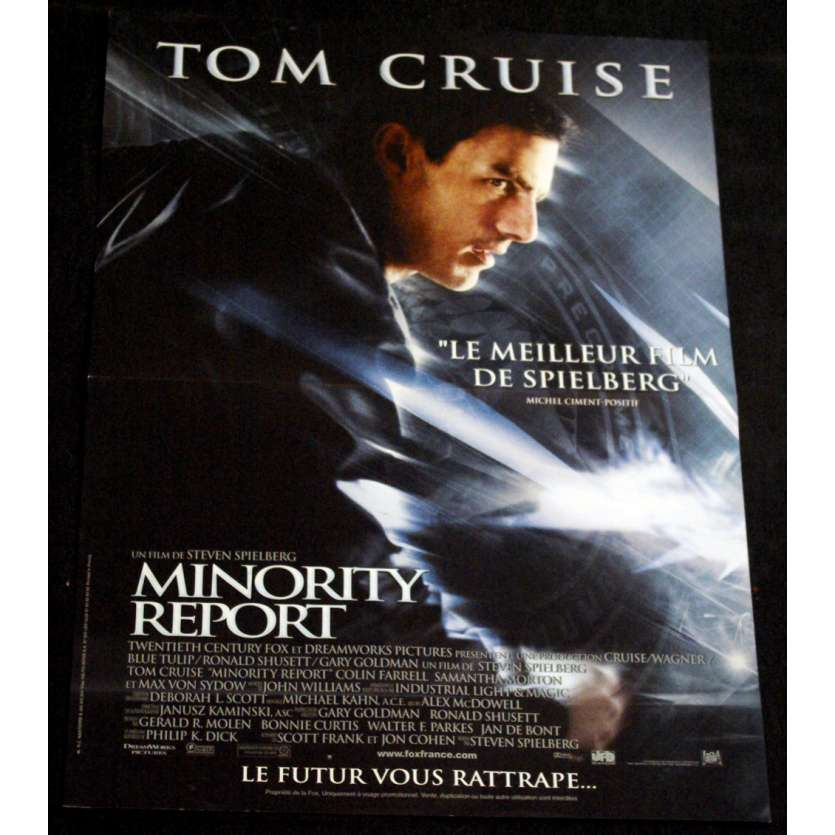 MINORITY REPORT French Movie Poster 15x21 '02 Steven Spielberg, Tom Cruise