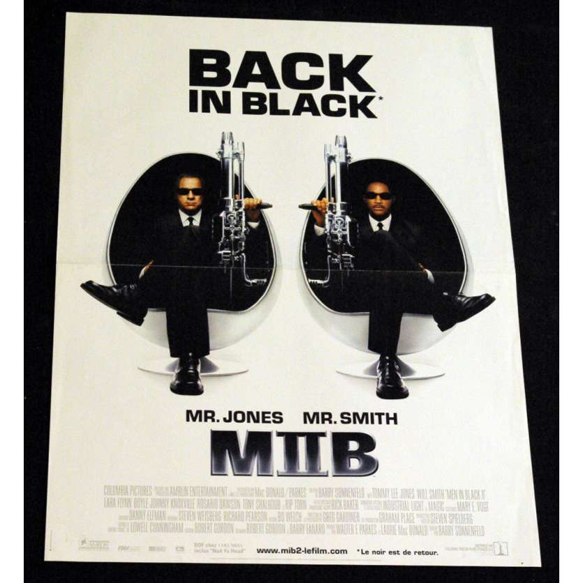 MEN IN BLACK 2 French Movie Poster 15x21 '02 Will Smith