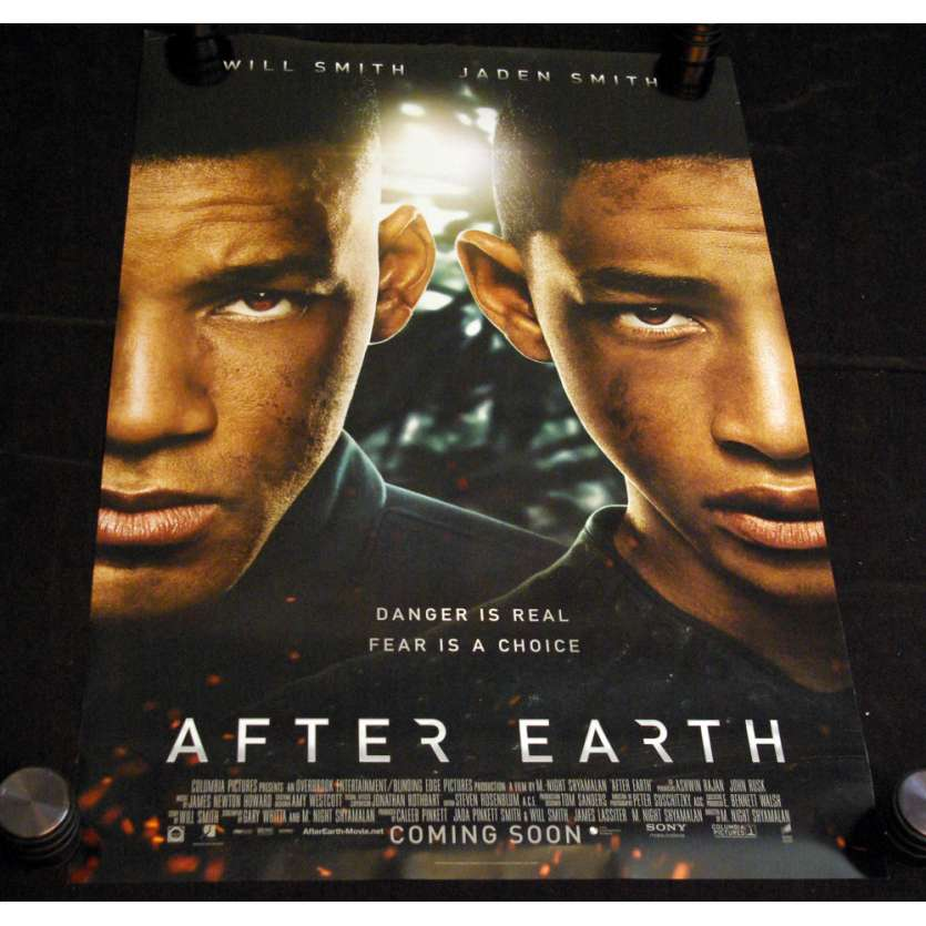 AFTER EARTH Affiche US N2 '13 Will Smith, Shylaman