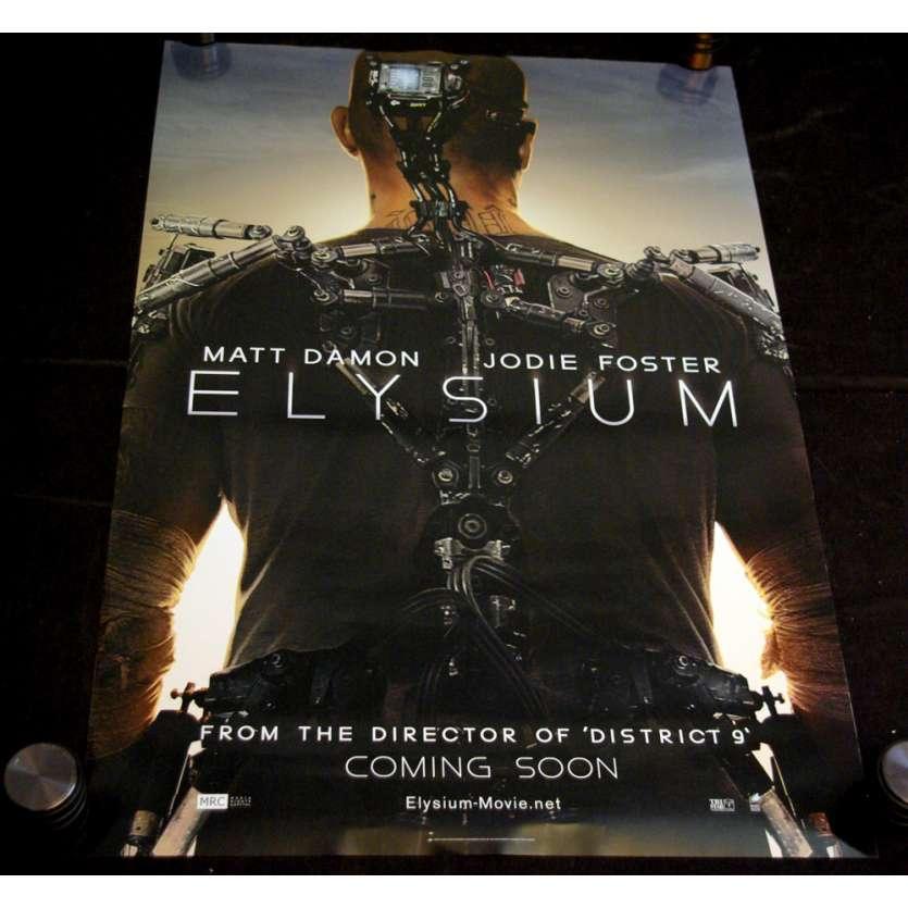 ELYSIUM Affiche prev. US '13 Matt Damon, Jodie Foster