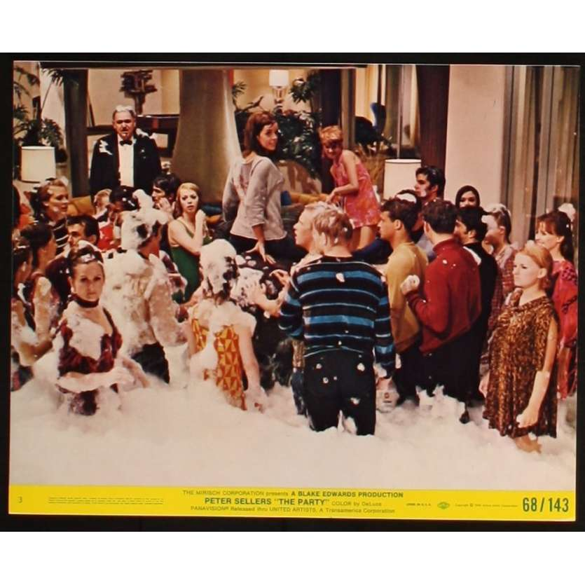 PARTY Photo exploitation 20x25 N5 US '68 Peter Sellers, Blake Edwards Lobby Card