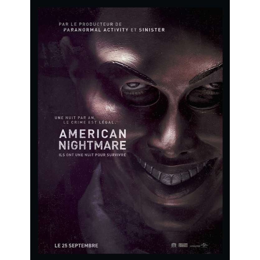 AMERICAN NIGHTMARE Affiche 40x60 FR '13 The Purge Wan poster
