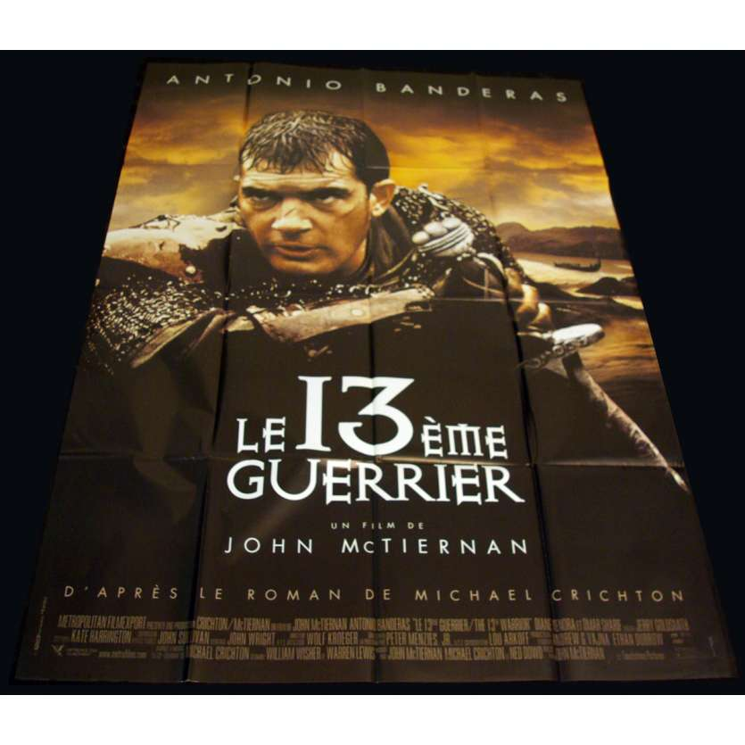 13E GUERRIER Affiche 120x160 FR '99 Antonio Banderas, John McTiernan Movie Poster