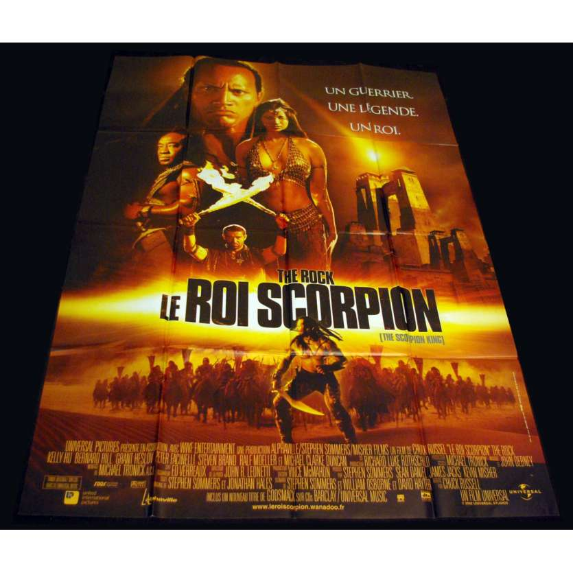 SCORPION KING French Movie Poster 47x63 '02 Dwayne Johnson