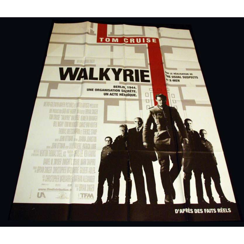 VALKYRIE French Movie Poster 47x63 '08 Tom Cruise, Bryan Singer