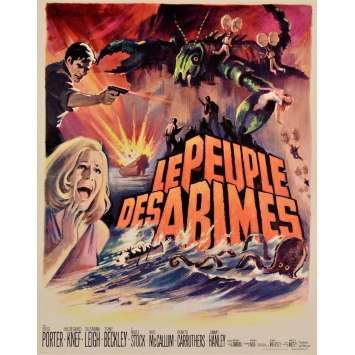 LOST CONTINENT French Movie Poster 15x21 '68 Hammer Film Lost Continent
