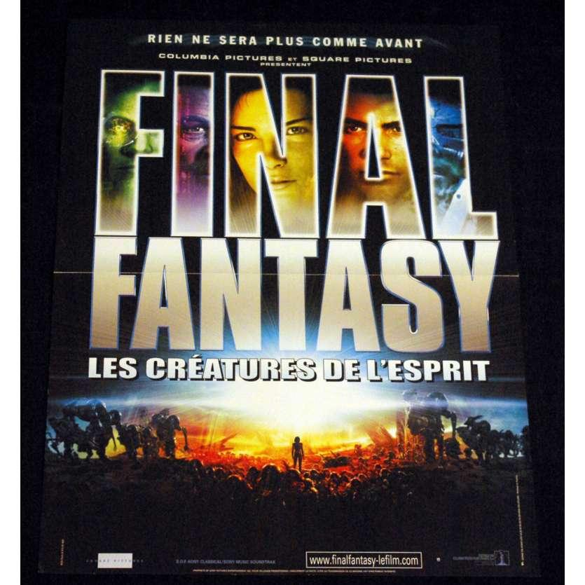 FINAL FANTASY French Movie Poster 15x21 '01 Hironobu Sakaguchi