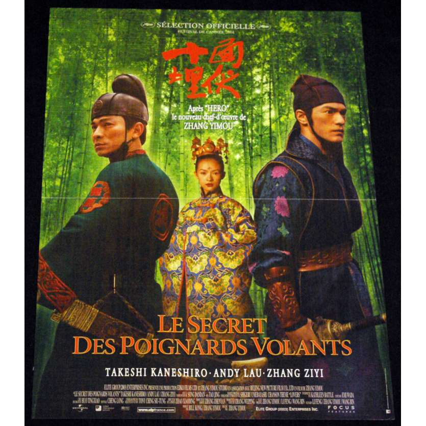 SECRET DES POIGNARDS VOLANTS Affiche 40x60 FR '02 Zhang Yimou, Zhang Ziyi