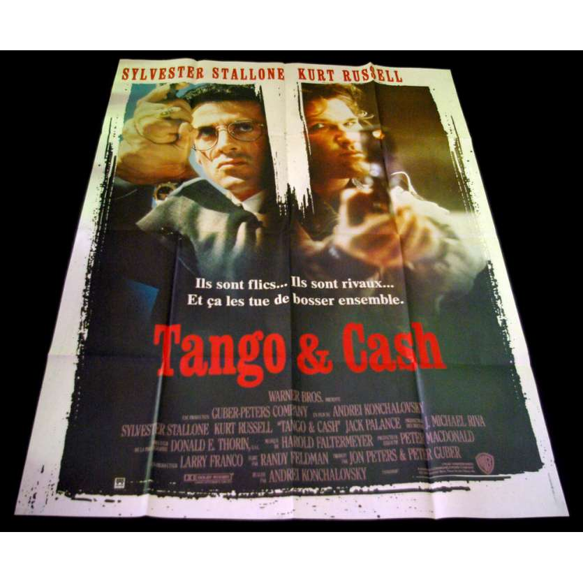 TANGO AND CASH French Movie Poster 47x63 '89 Sylvester Stallone, Kurt Russel