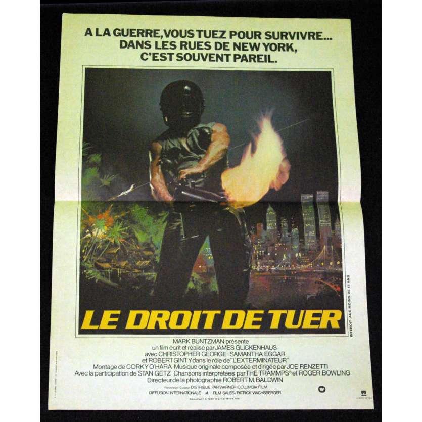 EXTERMINATOR French Movie Poster 15x21 '80 Samantha Eggar