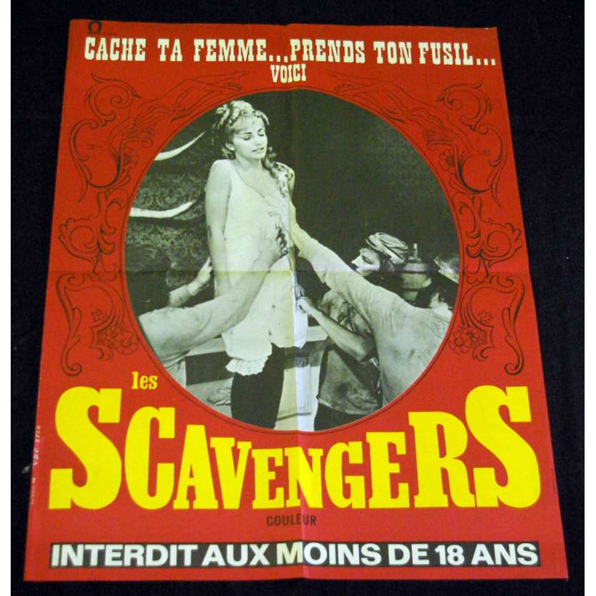 SCAVENGERS French Movie Poster 23x32 '69 Robert-Lee Frost , X-rated, sexy Poster