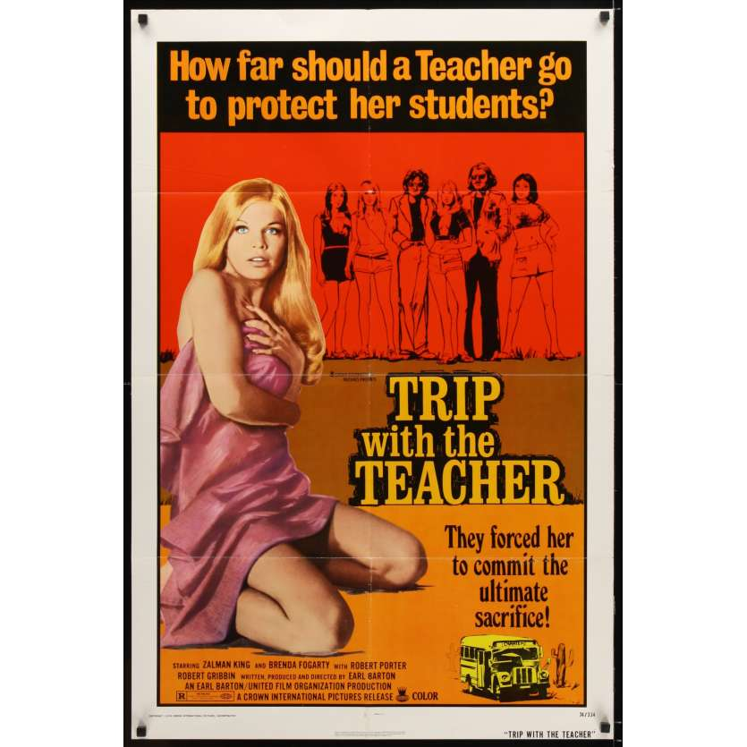 TRIP WITH THE TEACHER Affiche 69x104 US '74 Brenda Fogarty , Drive in Movie Poster