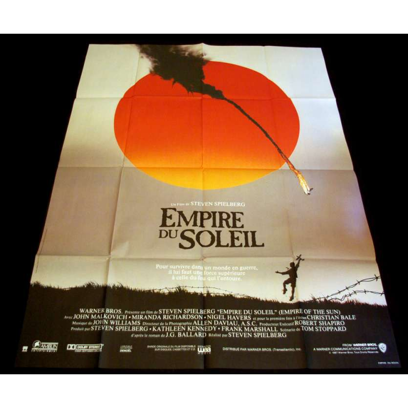 EMPIRE OF THE SUN French Movie Poster 47x63 '87 Steven Spielberg, Christian Bale
