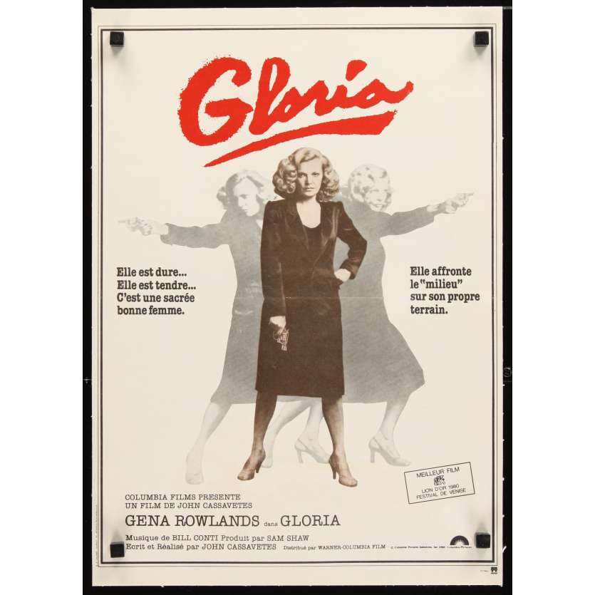 GLORIA Affiche 40x60 FR '80 Gena Rowlands, Cassavetes