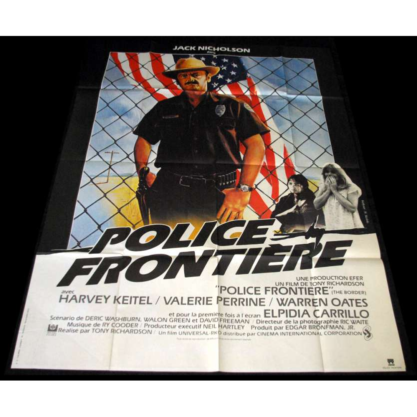 POLICE FRONTIERE Affiche 120x160 FR '82 jack Nickolson, Harvey Keitel