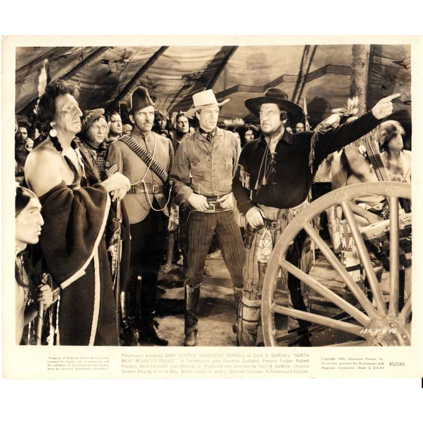 NORTH WEST MOUNTED POLICE 8x10 Still '45 Gary Cooper, Cecil B. demille