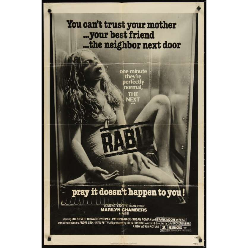 RABID Movie Poster - David Cronenberg