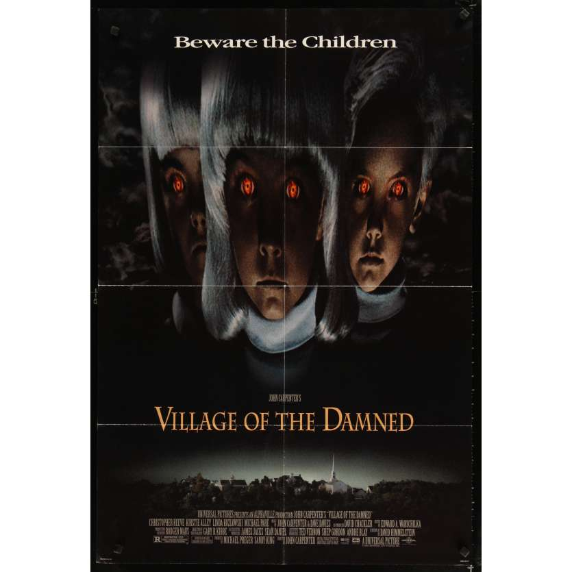VILLAGE OF THE DAMNED Movie Poster - John Carpenter